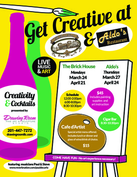 Creativity & Cocktails at Aldo's Restaurant